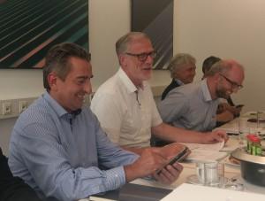 Kulturstaatssekretär v.l.n.r.; Dr. Gunnar Schellenberger und Kulturminister Rainer Robra, daneben Ulrich Katzer und Christian Reineke (Foto: Andreas Kaluza)