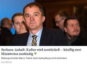 Bildungsminister Marko Tullner in einem Beitrag der MZ vom 4. Mai 2016
